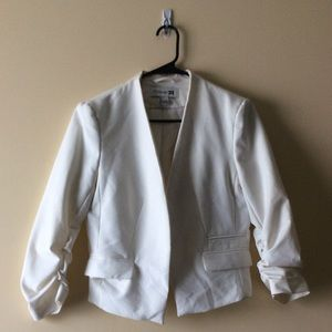 Forever21 Asymmetrical Blazer with Ruched Sleeves